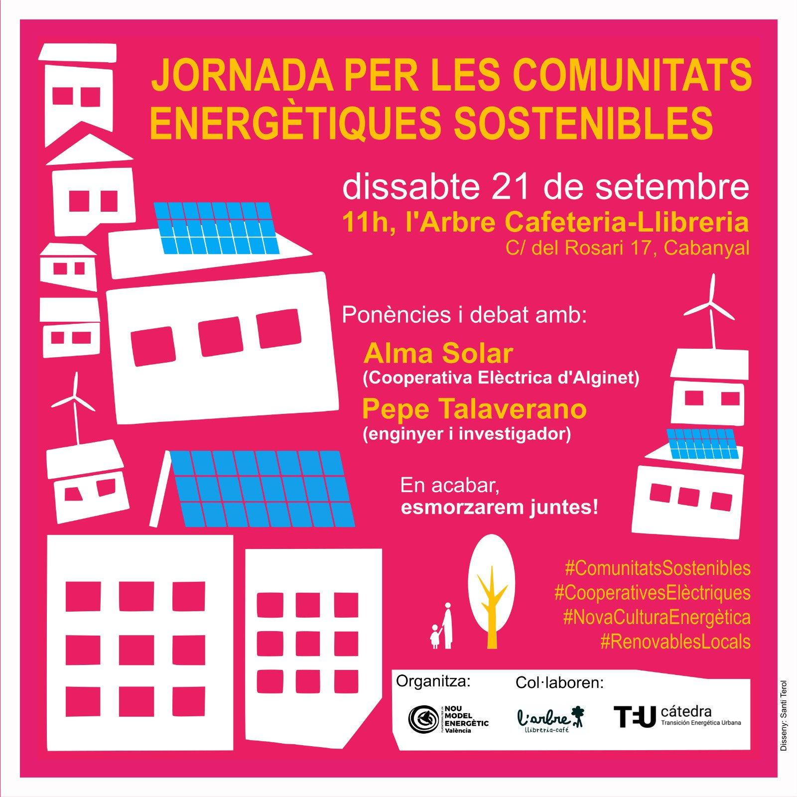 21 Setembre 2019: Jornada per les Comunitats Energètiques Sostenibles