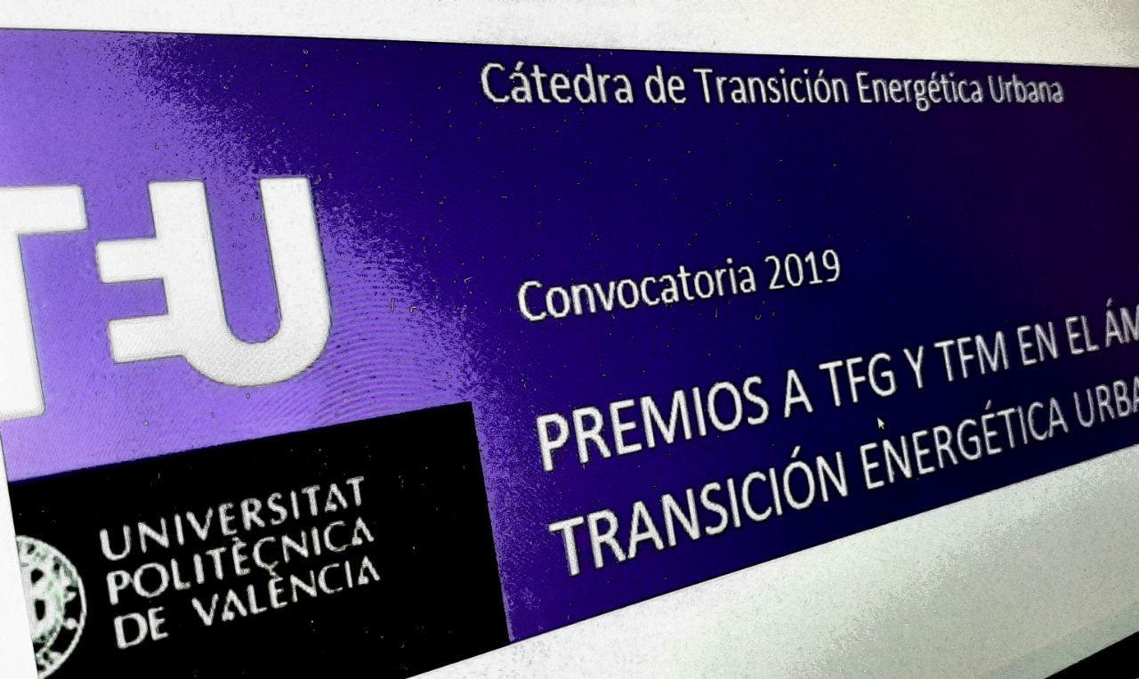Premios a TFG y TFM sobre la transición energética urbana 2019