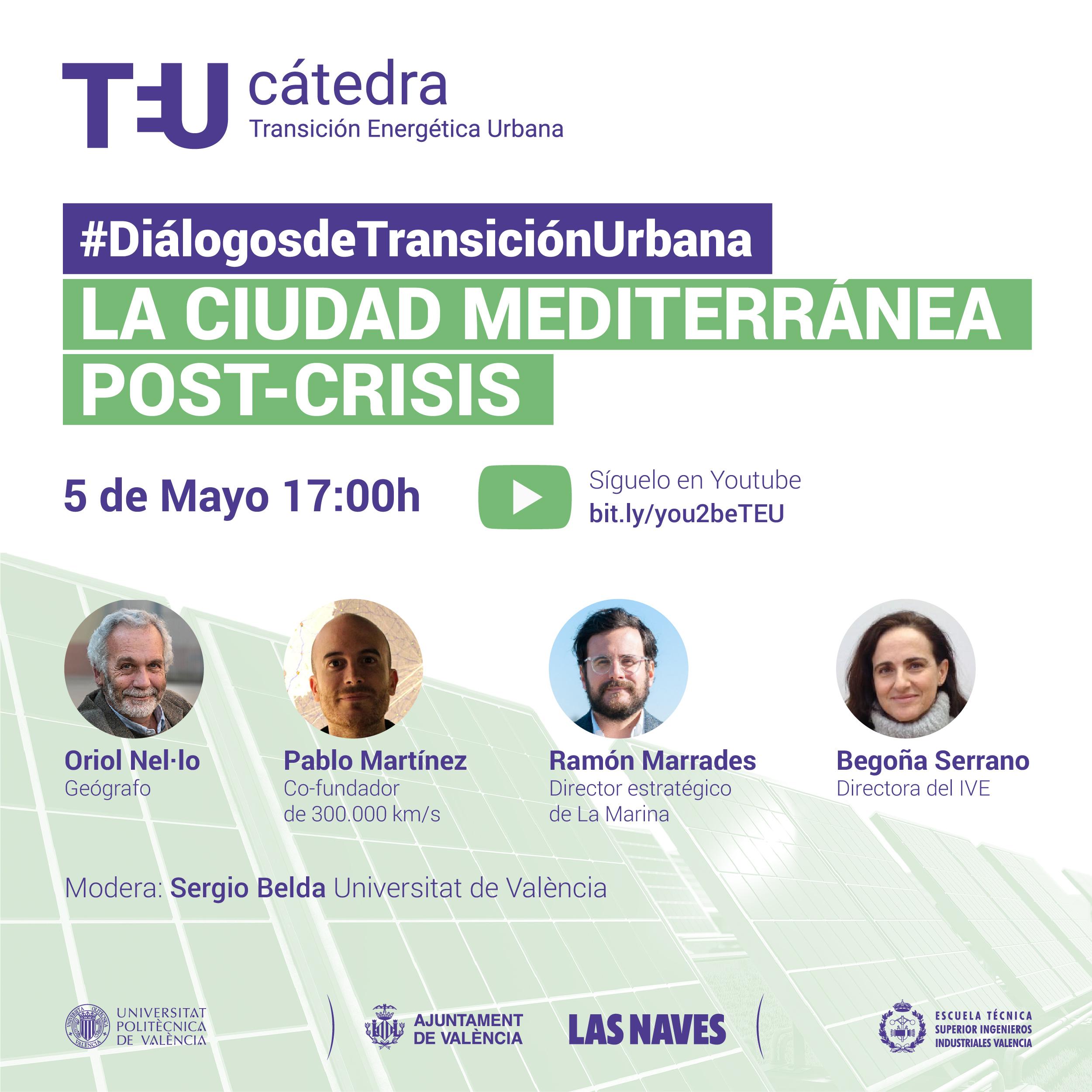5 mayo: webinar LA CIUDAD MEDITERRÁNEA POST-CRISIS