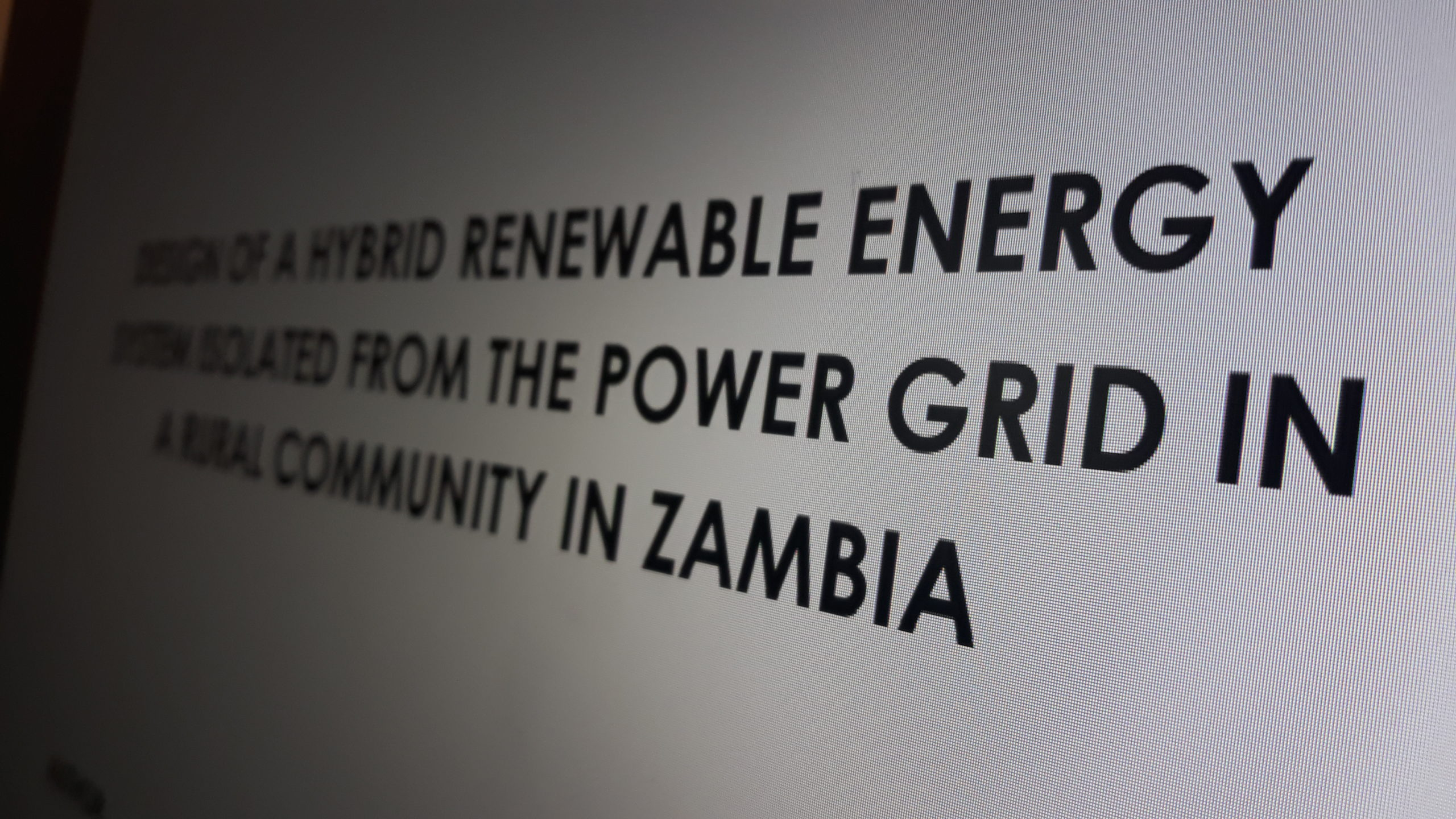 Design of an Isolated Hybrid Renewable Energy System in a Rural Community in Zambia