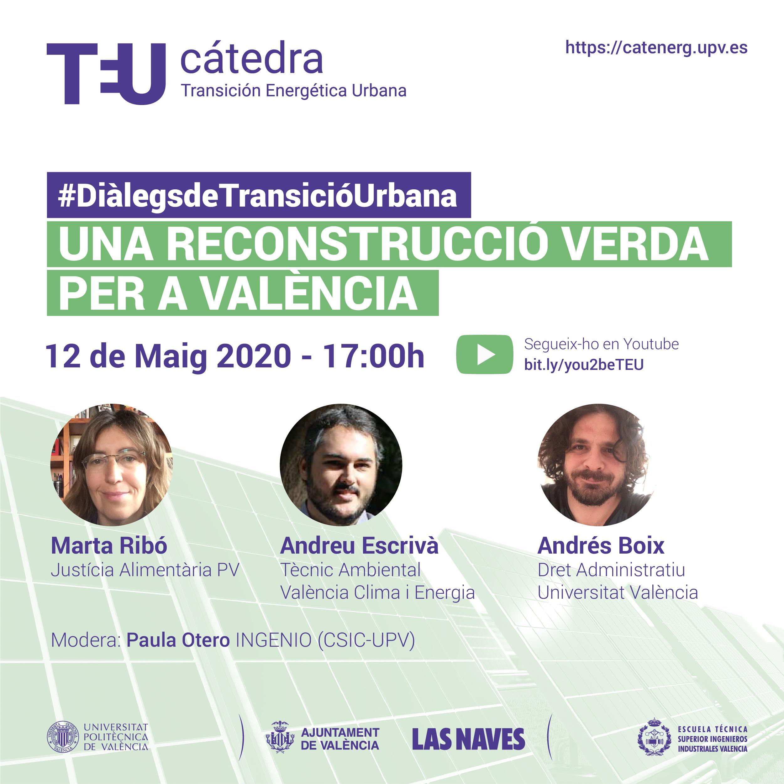 12 mayo Webinar: Una Reconstrucció Verda per a València