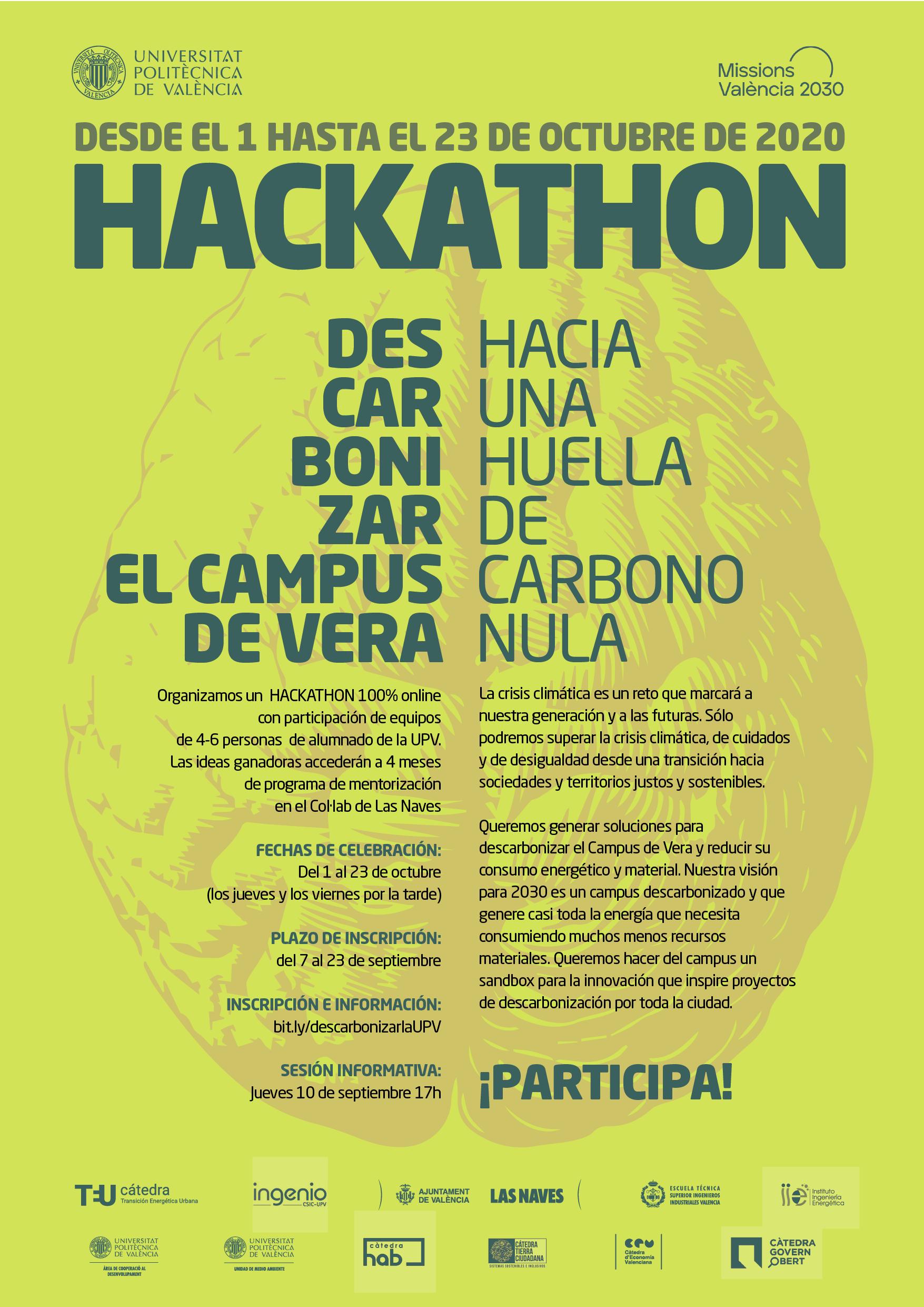 Organizamos el Hackathon DESCARBONIZAR EL CAMPUS DE VERA