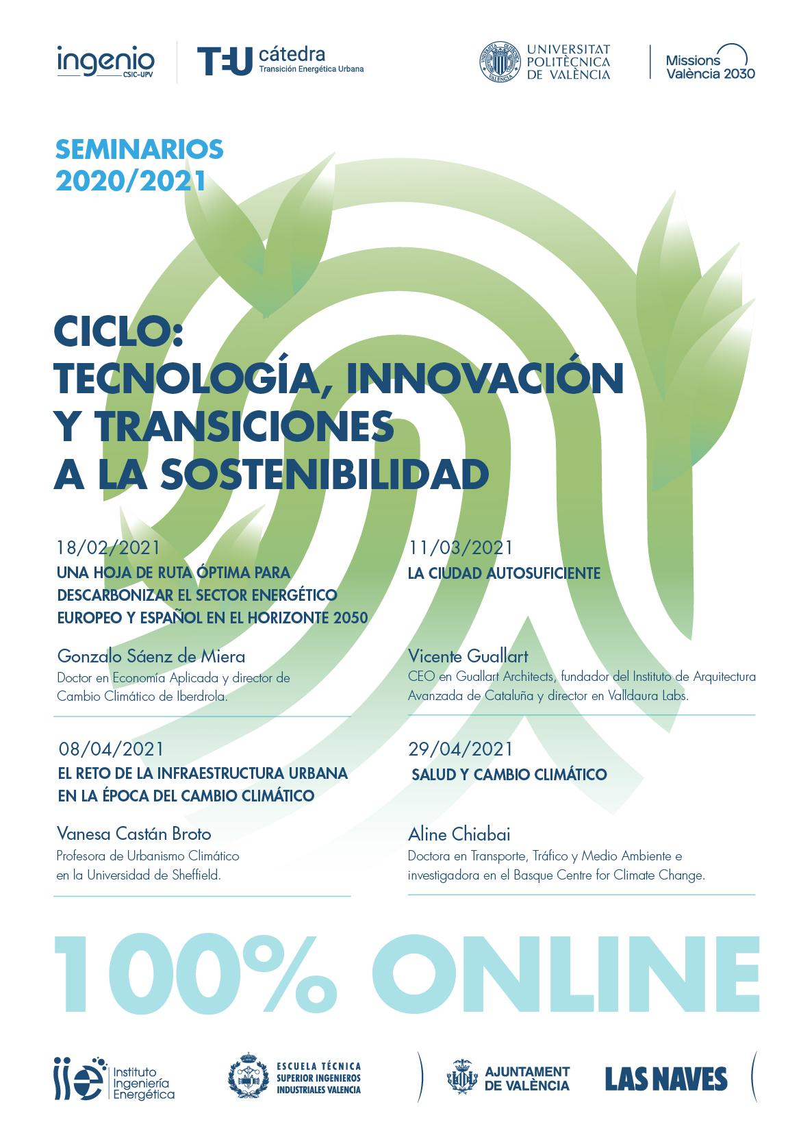 Ciclo de seminarios sobre transiciones a la sostenibilidad